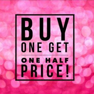 BOGO Buy 1 get 1 50% OFF
